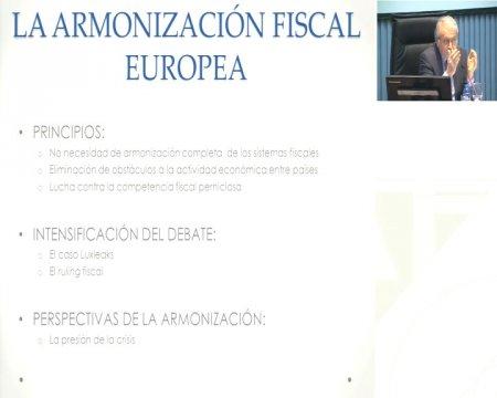 A harmonización fiscal europea  - Xornada sobre Harmonización fiscal